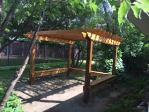 Drop-in Center Pergola
