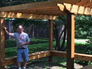 Spike Wellman at Lake Country Cottage Pergola