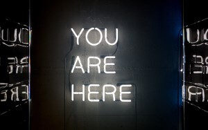 sign that says you are here
